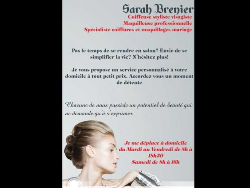 SARAH BRENIER : COIFFEUSE DOMICILE FARNAY 42320