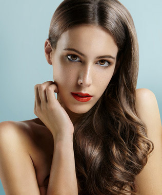 coiffure glamour lissage