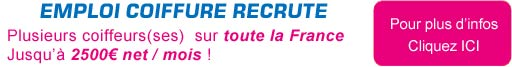 emploi coiffure