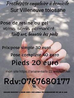 prothesiste ongulaire31270Villeneuve Tolosane